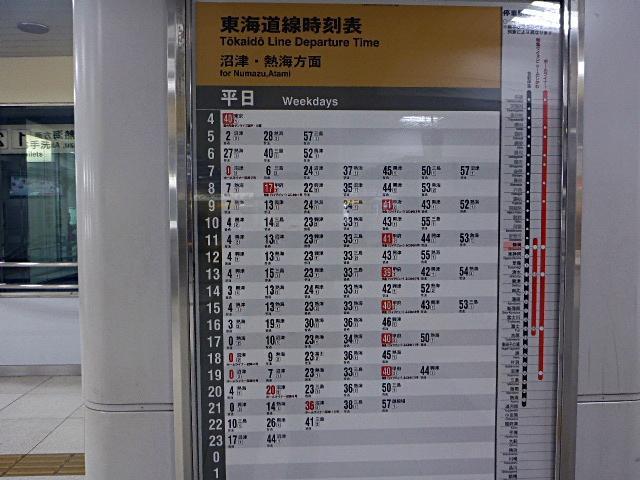 静岡駅時刻表