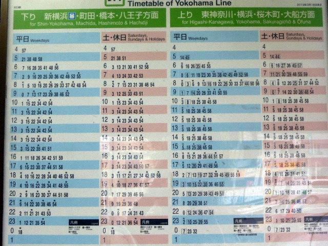大口駅時刻表