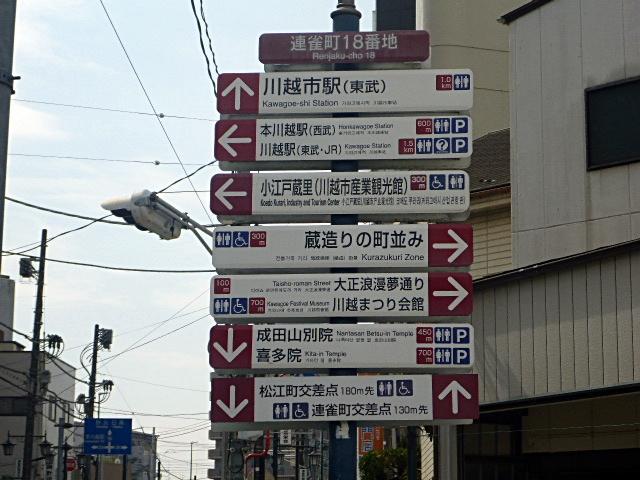 連雀町観光案内標識