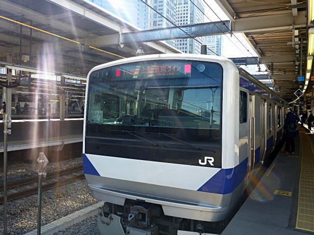 水戸行き快速電車の先頭車両