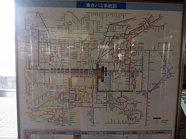 宇都宮駅のバス路線図