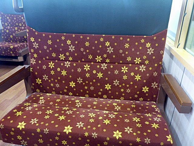 いろは列車の座席