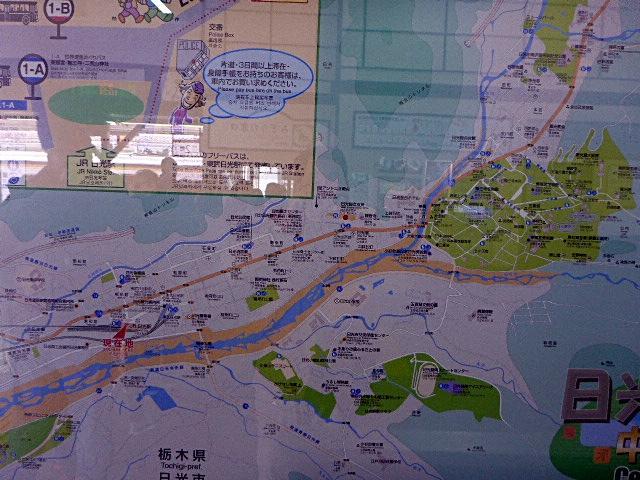 日光駅周辺観光案内図