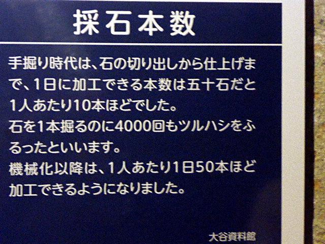 砕石本数の説明板