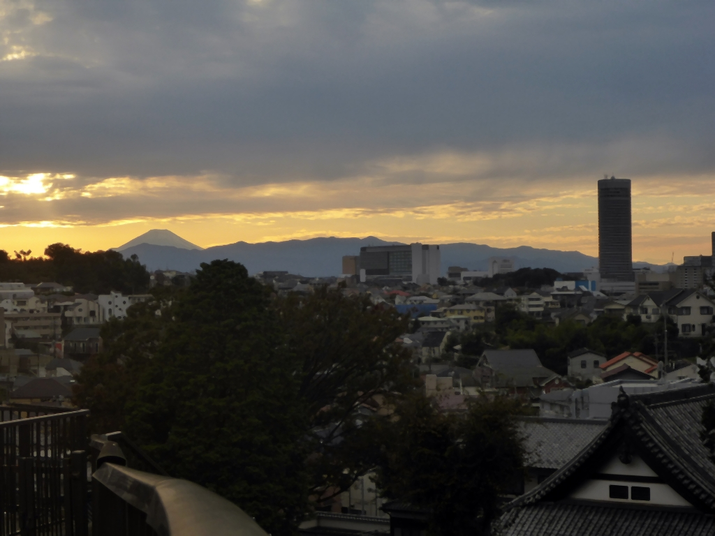 夕富士全景1