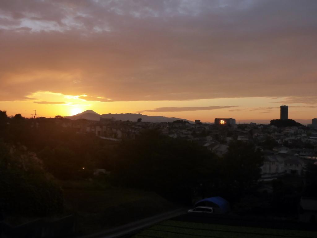 夕富士全景2